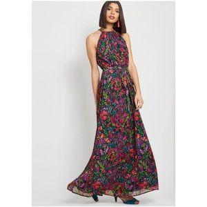 ModCloth illuminated elegance NWT floral maxi L